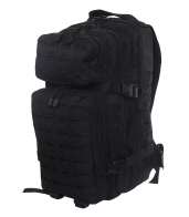 Универсальный тактический рюкзак для города и активного отдыха (30 литров, черный)