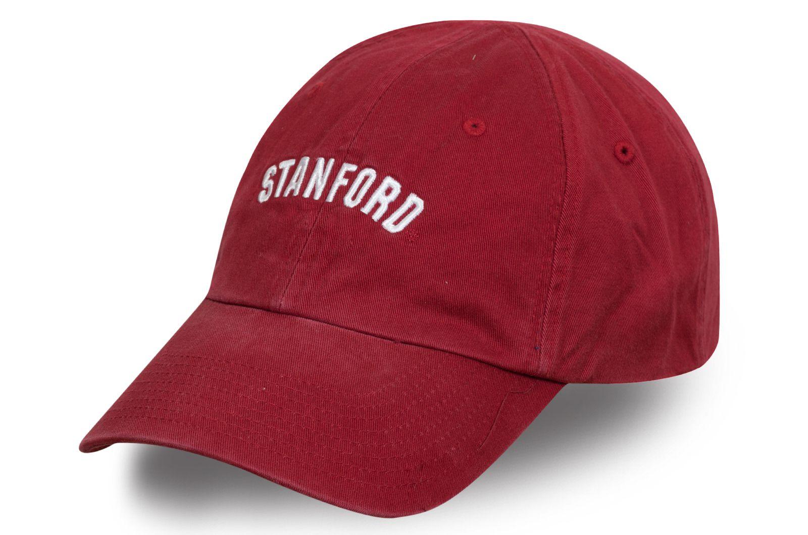Университетская бейсболка красная