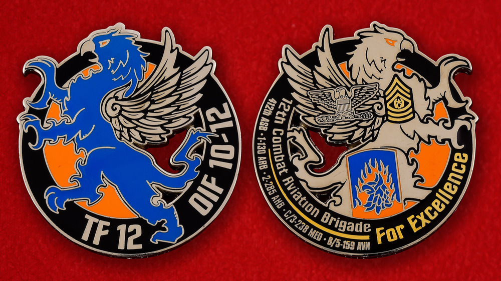 US 12th Combat Aviation Brigade Challenge Coin - both sides