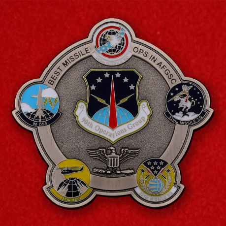US 90th Missile Operations Group Jolly Roger Challenge Coin - obverse