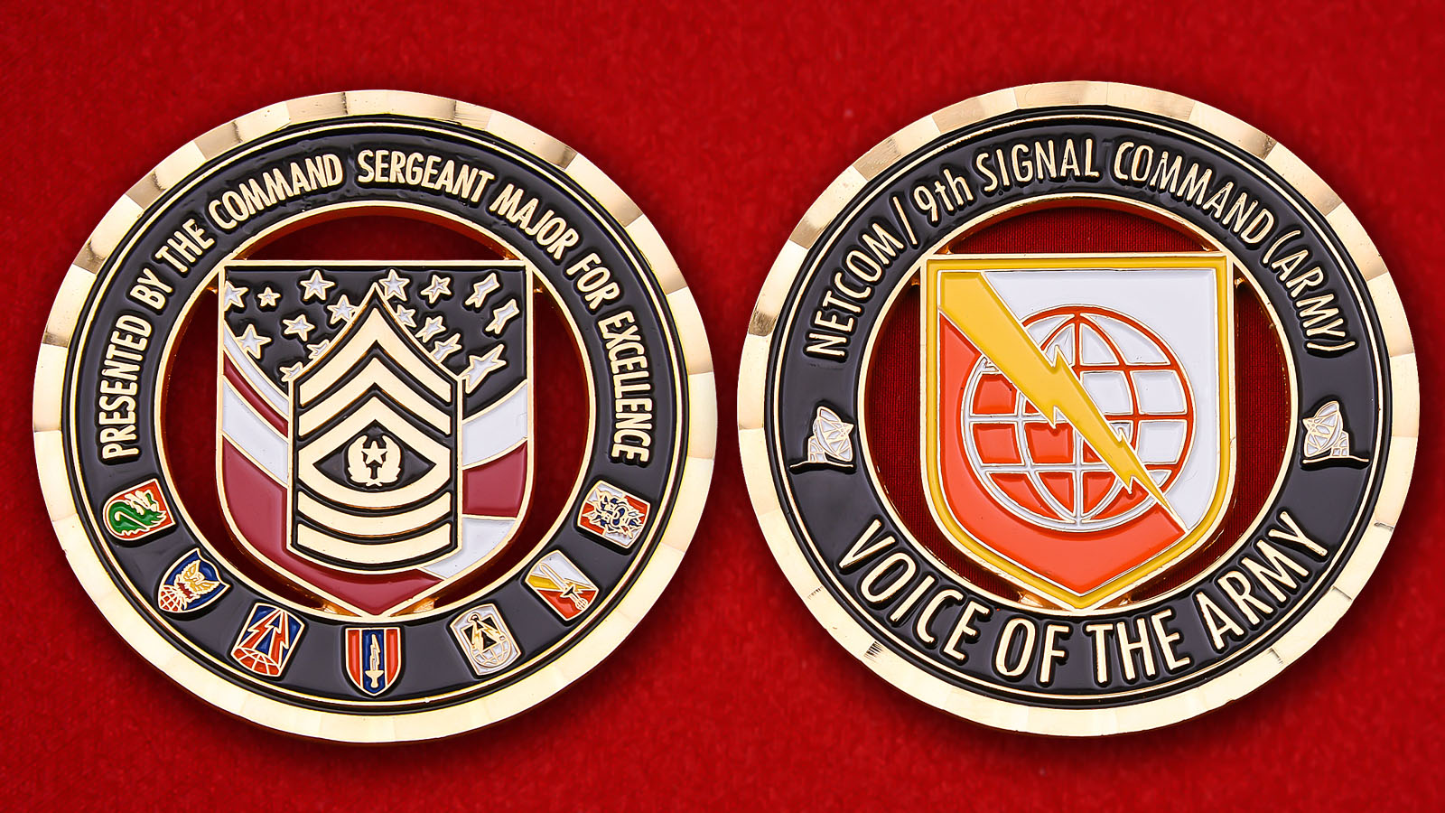 """US 9th Army Signal Command "" Challenge Coin"