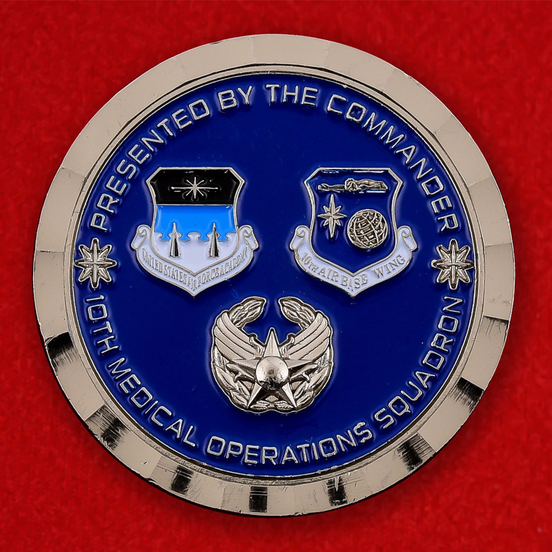 US Air Force 10th Medical Operations Squadron Challenge Coin - obverse