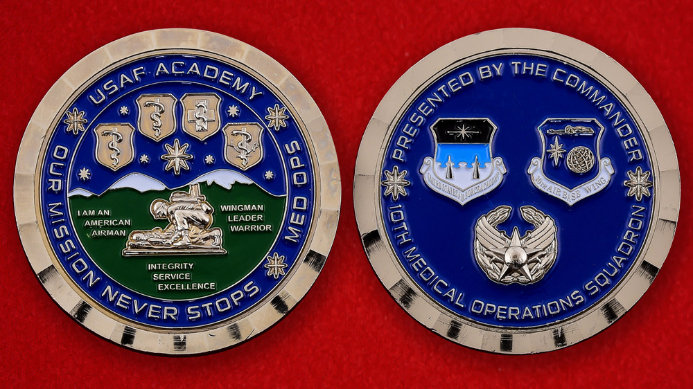 US Air Force 10th Medical Operations Squadron Challenge Coin - both sides