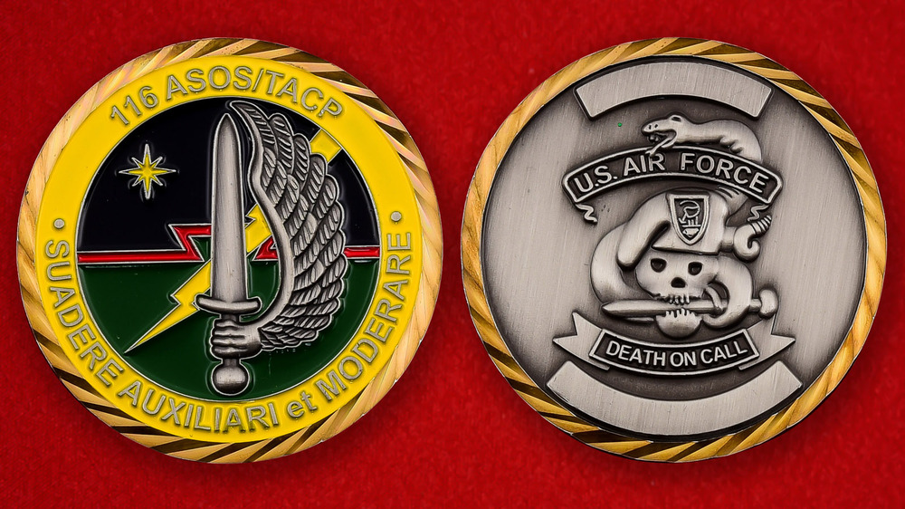 US Air Force 116th ASOS/TACP Challenge Coin - both sides