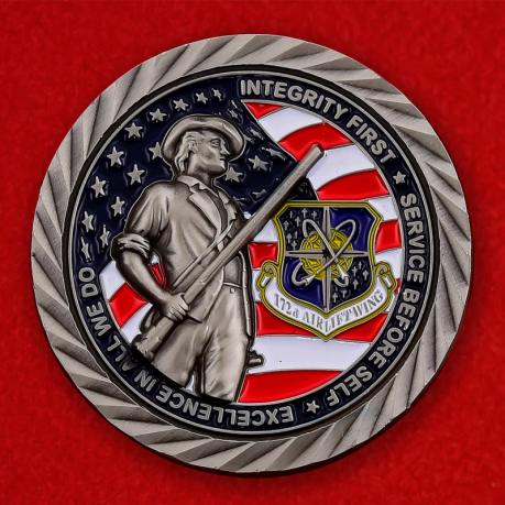 US Air Force 172nd Airlift Wing Challenge Coin - obverse