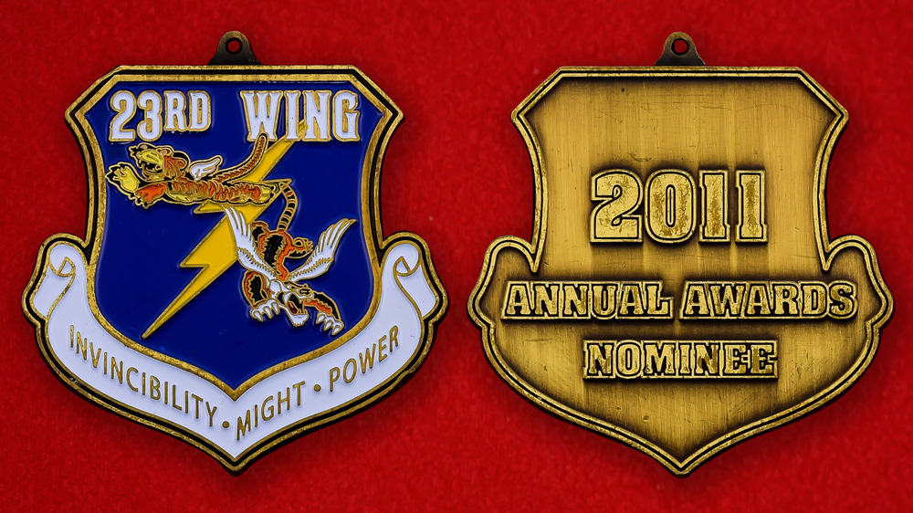 US Air Force 23rd Wing Challenge Coin - both sides