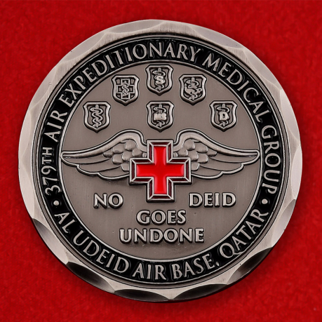 US Air Force 379th Air Expeditionary Medical Group Al Udeid AB, Qatar Challenge Coin - obverse