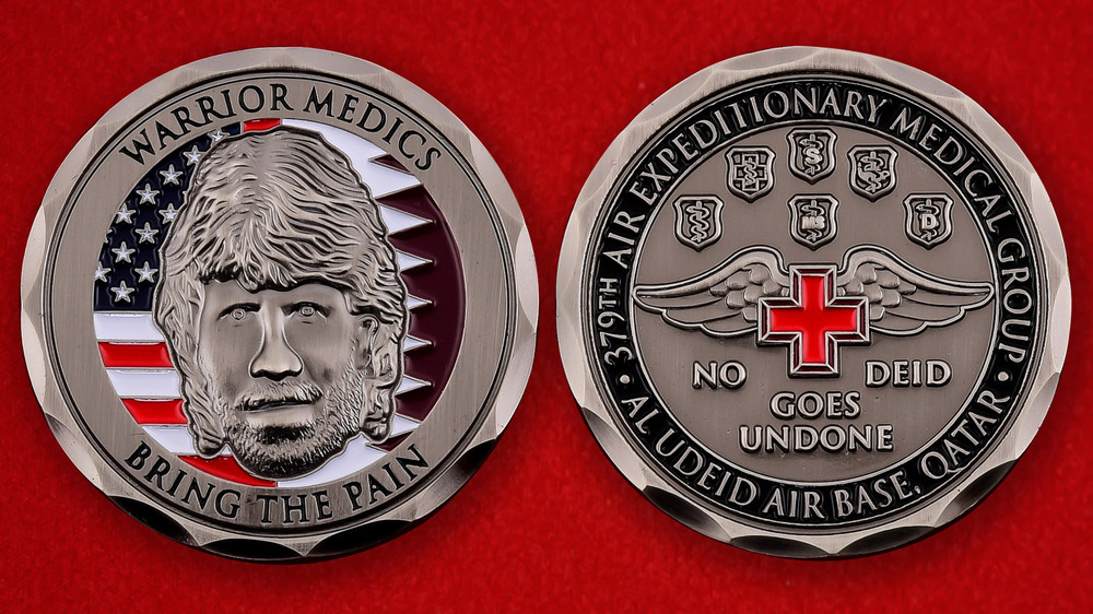 US Air Force 379th Air Expeditionary Medical Group Al Udeid AB, Qatar Challenge Coin - both sides