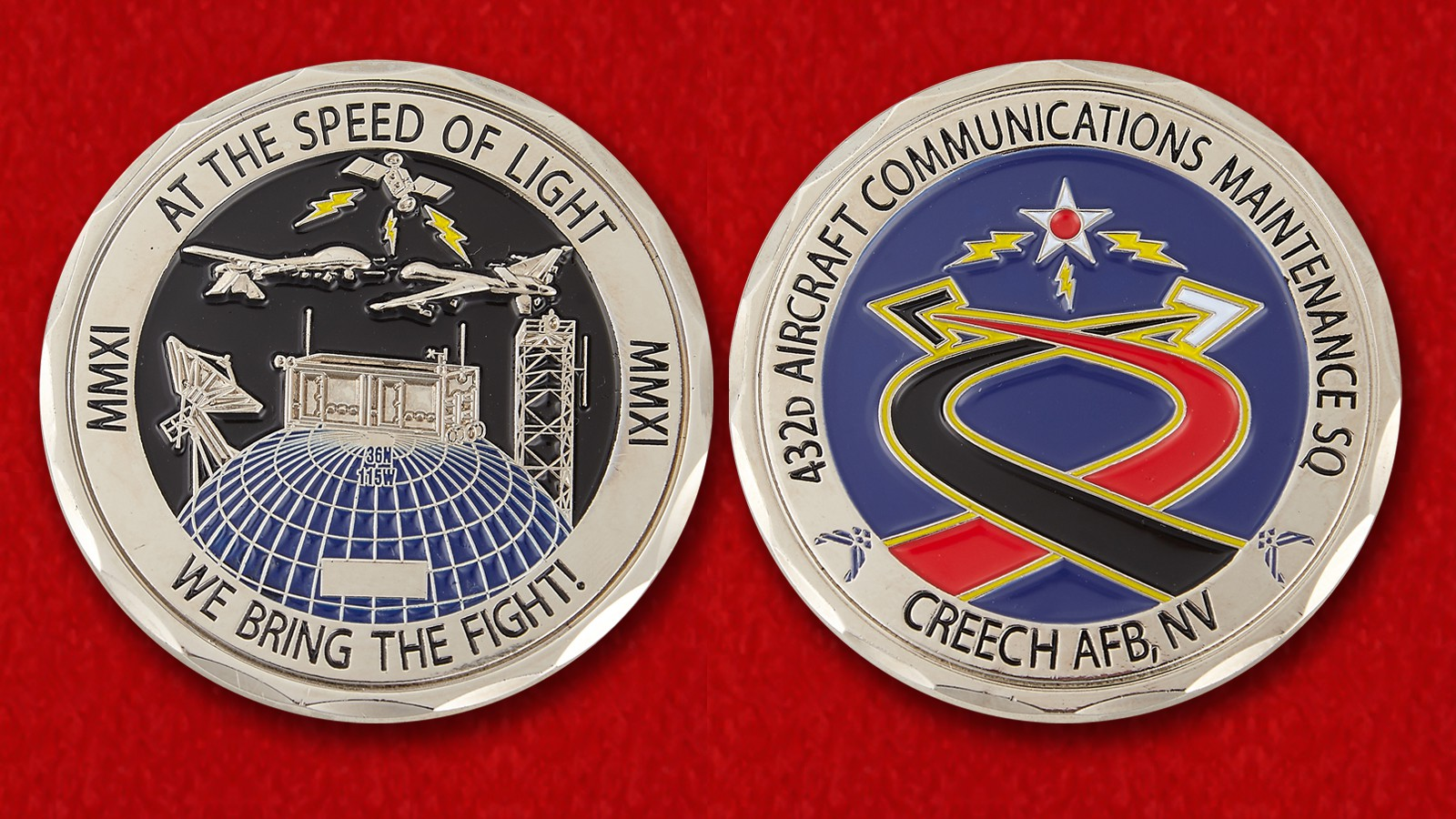 US Air Force 432nd Aircraft Communications Maintenance Squadron Challenge Coin