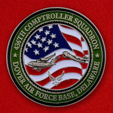 US Air Force 436th Comptroller Squadron Dover AFB Challenge Coin - obverse