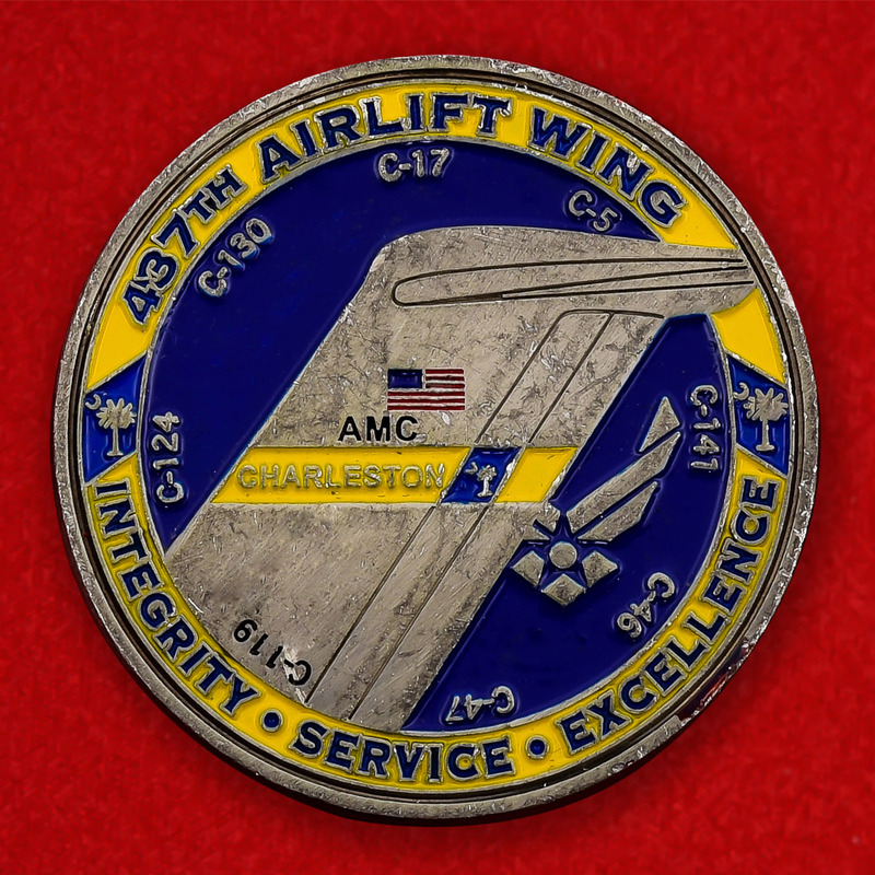US Air Force 437th Airlift Wing Challenge Coin - obverse