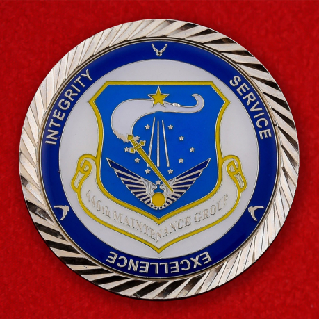 US Air Force 446th Maintenance Group Challenge Coin - obverse
