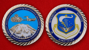 US Air Force 446th Maintenance Group Challenge Coin - both sides