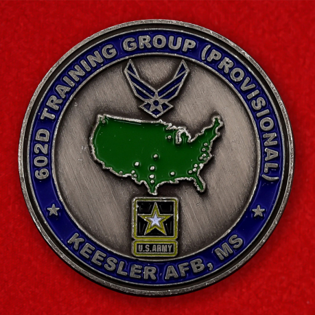 US Air Force 602nd Provosional Training Group Keesler AFB Challenge Coin - obverse