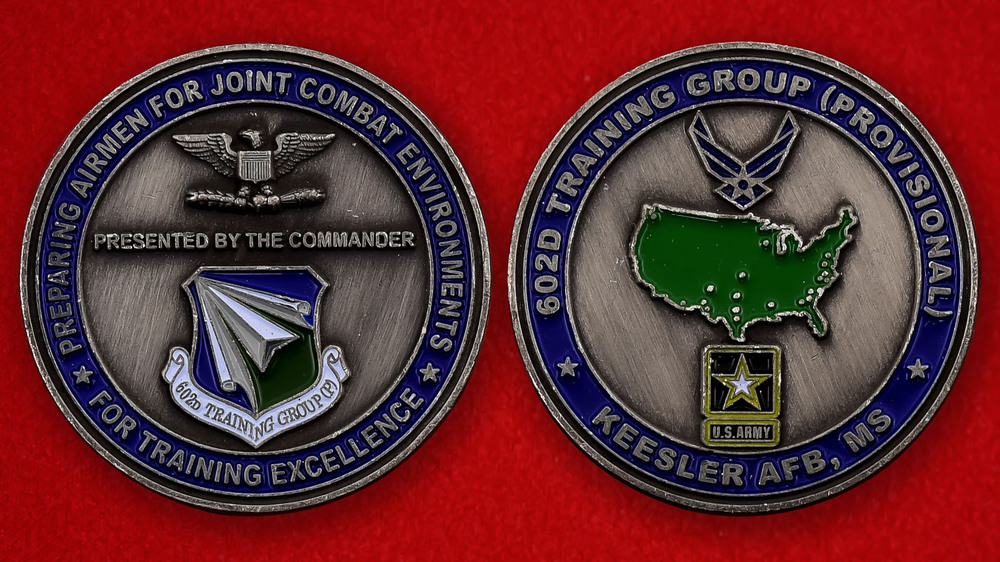 US Air Force 602nd Provosional Training Group Keesler AFB Challenge Coin - both sides