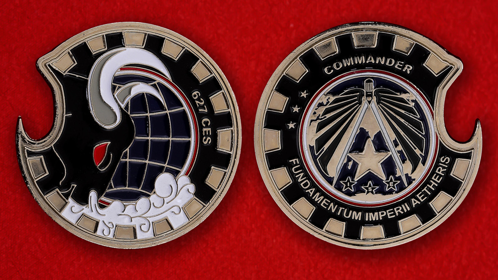 US Air Force 627th CES Challenge Coin - both sides