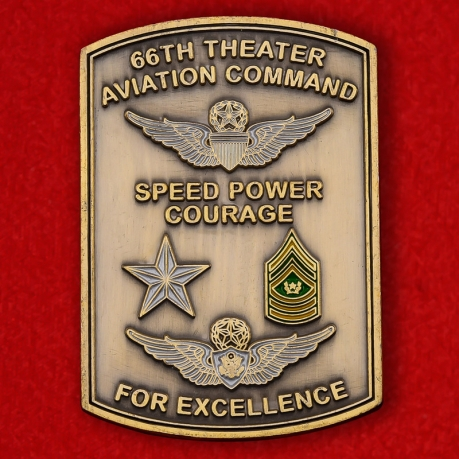 US Air Force 66th Theater Aviation Command Challenge Coin - obverse