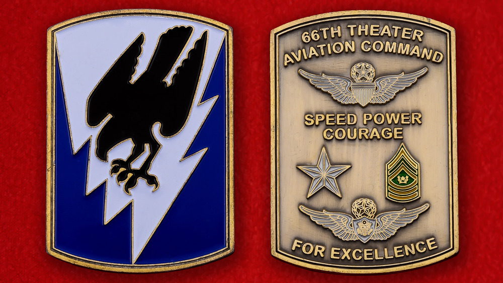 US Air Force 66th Theater Aviation Command Challenge Coin - both sides