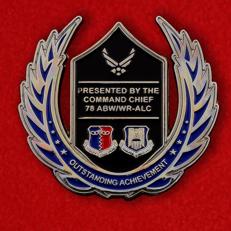 US Air Force 78th ABW Command Chief Challenge Coin - obverse