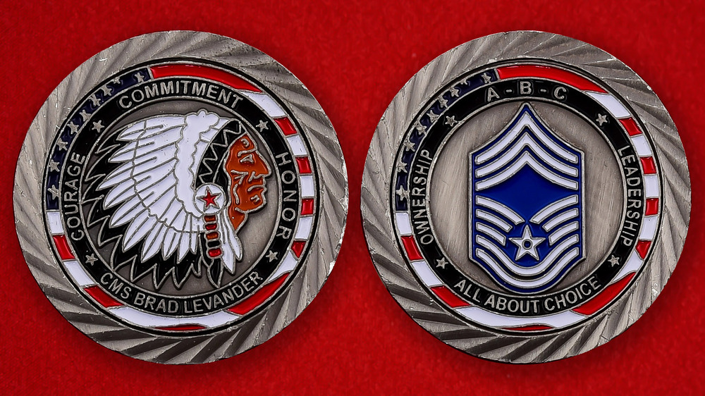 US Air Force CMS Brad Levander Challenge Coin