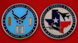 US Air Force Company Grade Officers Dyess CGOC Challenge Coin - both sides