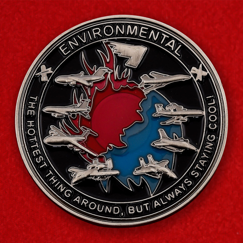 US Air Force Electrical Enviromental Unit Challenge Coin - obverse