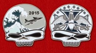 US Air Force Global Strike Command 20th Bomb Squadron Challenge Coin - both sides