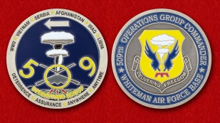 US Air Force Global Strike Command 509th Operations Group Challenge Coin