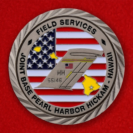 US Air Force Global Support C-17 Globemaster III JB Pearl Harbor Challenge Coin - obverse