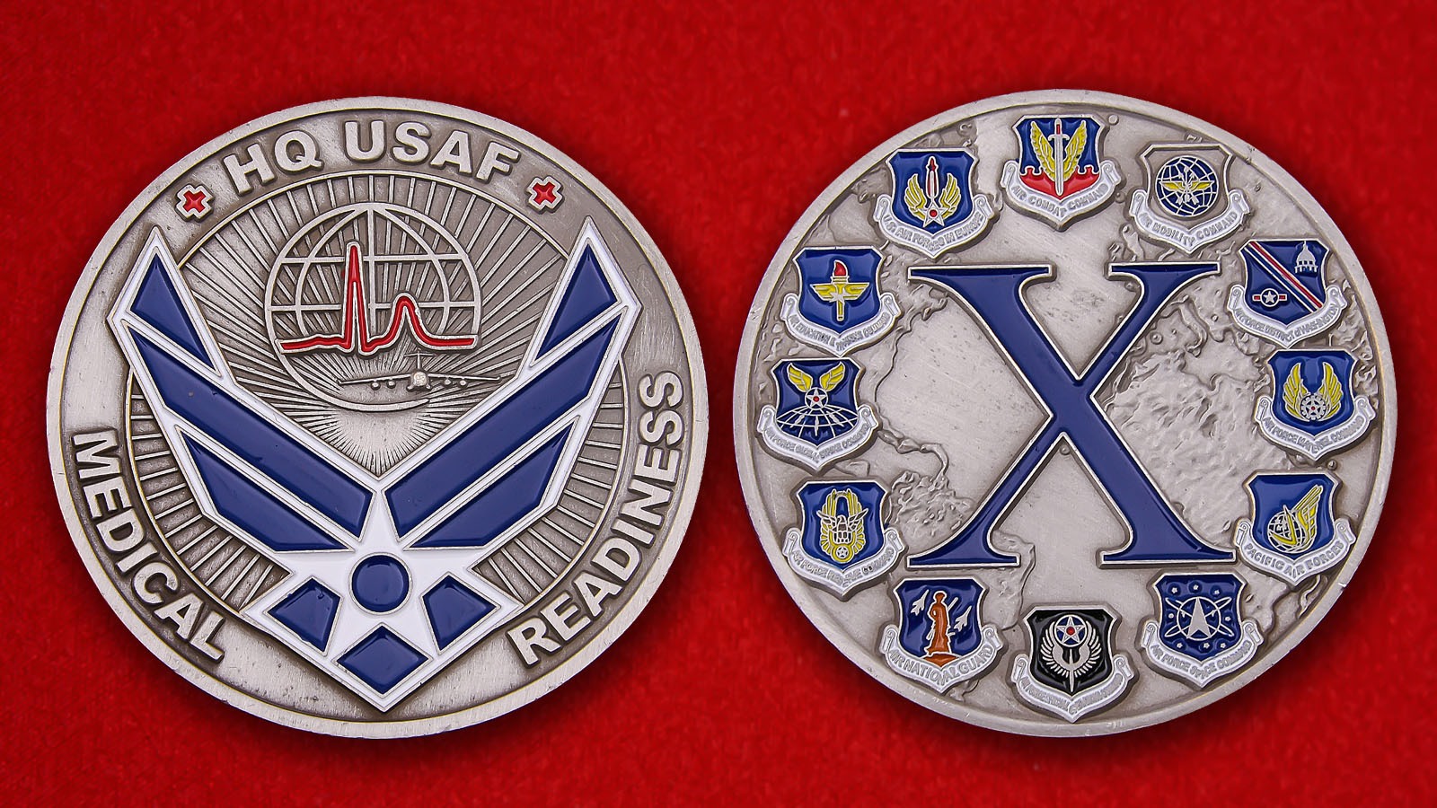 US Air Force HQ Medical Readiness Challenge Coin