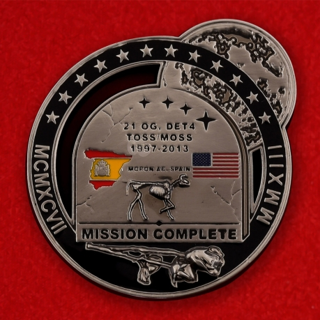 US Air Force Moron Air Base, Spain 1997-2013 Challenge Coin - obverse