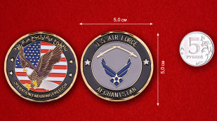 US Air Force Operation Enduring Freedom Afghanistan Challenge Coin