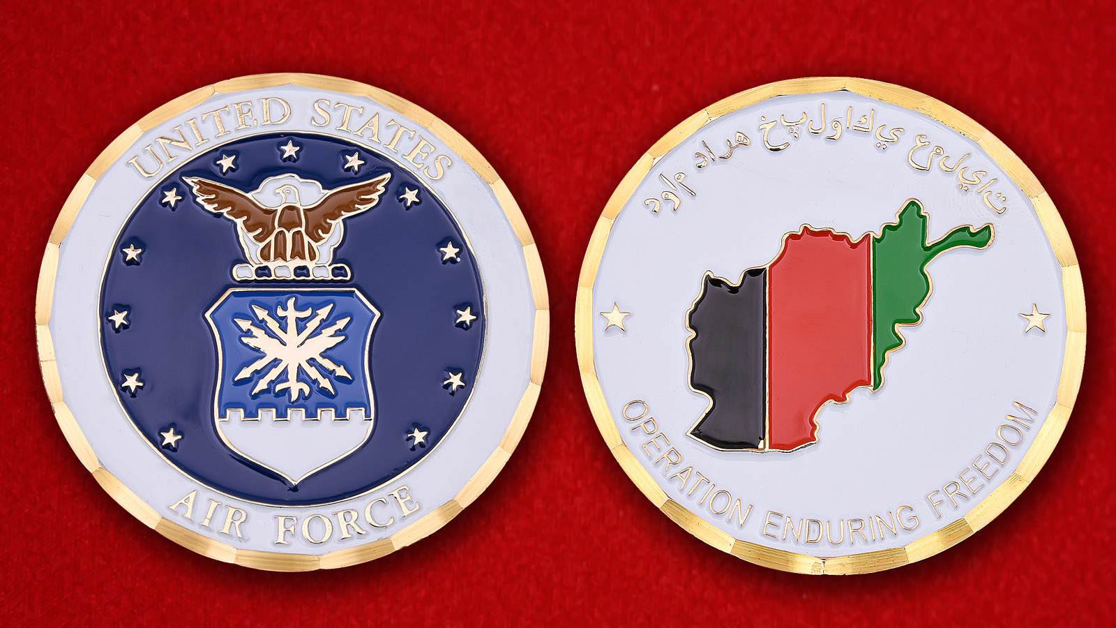 US Air Force Operation Enduring Freedom Challenge Coin