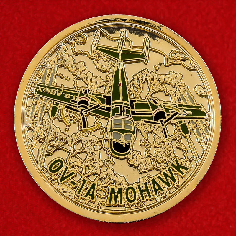 US Air Force OV-1 Mohawk Association Challenge Coin - obverse