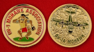 US Air Force OV-1 Mohawk Association Challenge Coin - both sides