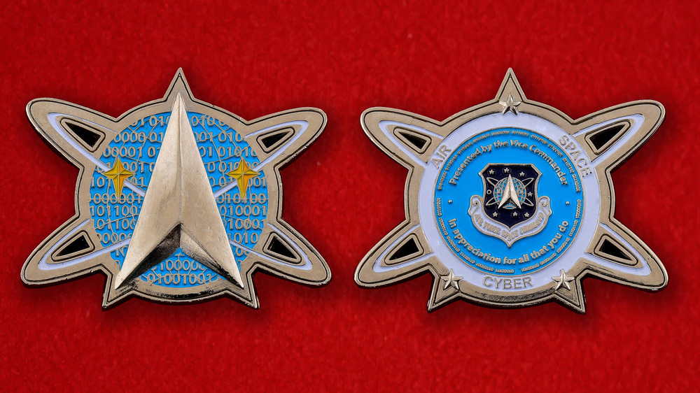 US Air Force Space Command Commanders Challenge Coin - both sides