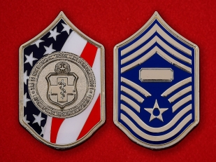 US Air Force Surgeon By Chief Master-Sergeant Nunes Challenge Coin - both sides
