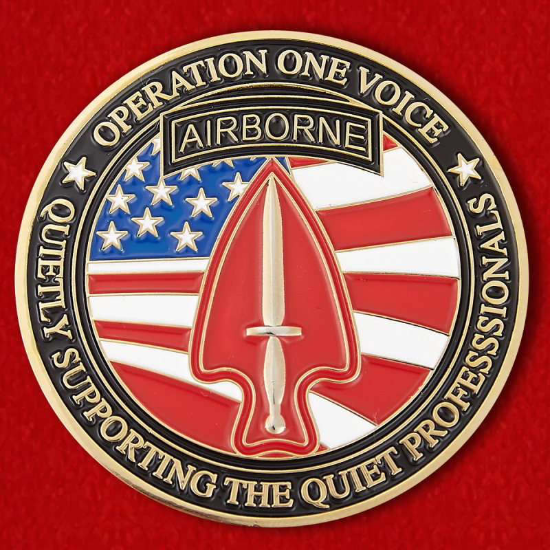US Airborne Operation One Voice Nonprofit Organization Challenge Coin - reverse