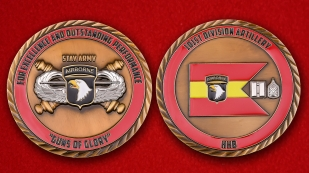 "US Army 101st Airborne Division Artillery ""Guns Of Glory"" Challenge Coin"