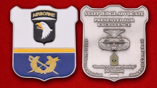 US Army 101st Airborne Division Staff Judge Advocate Challenge coin