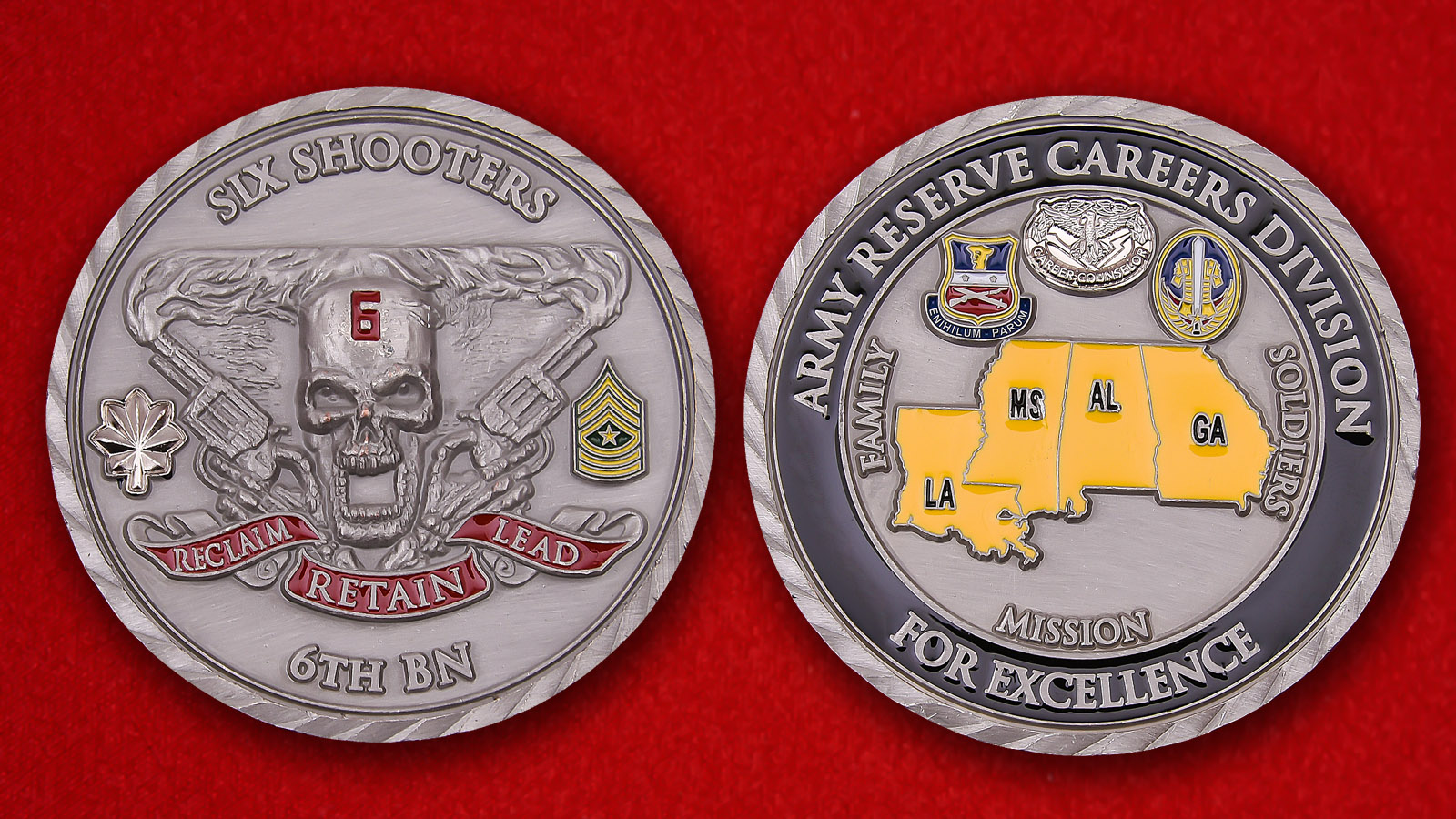 US Army 6th Battalion Army Reserve Careers Division Challenge Coin
