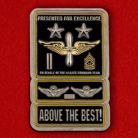 US Army Aviation Command Team Challenge Coin - obverse
