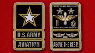 US Army Aviation Command Team Challenge Coin - both sides