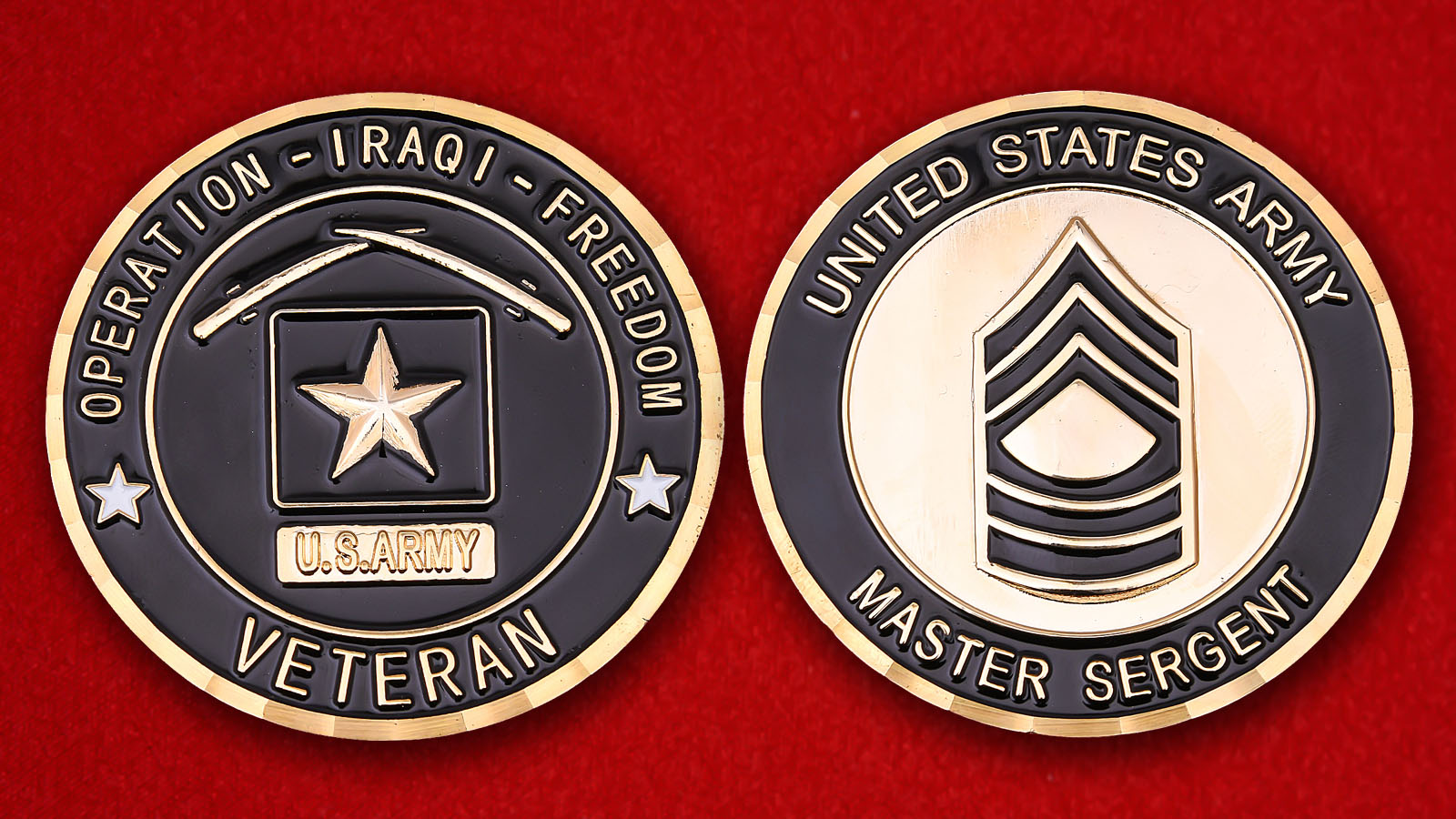 US Army Master Sergeant Veteran Of Operation Iraqi Freedom Challenge Coin