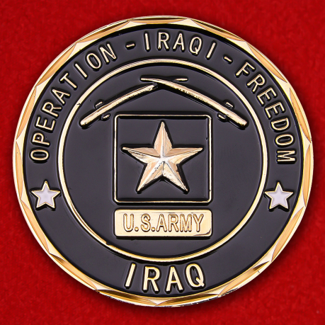 US Army Operation Iraqi Freedom Challenge Coin