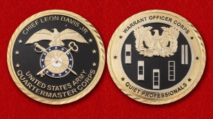 US Army Quartermaster Corps Warrant Officer Challenge Coin