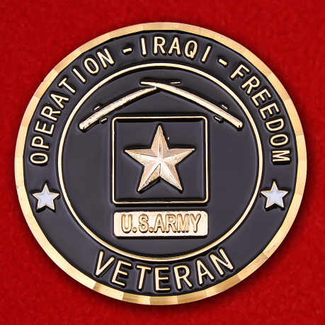 US Army Specialist Veteran Of Operation Iraqi Freedom Challenge Coin