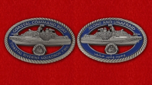 US Coastal Command Boat 65PB1101 Coastal riverine Squadron 2 Challenge Coin