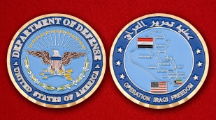 US Department Of Defense Operation Iraqi Freedom Challenge Coin