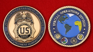 US Department Of Justice DEA Special Operations Division Challenge Coin